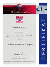 2014 - Certifikovaný makléř 2. stupně
